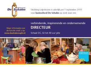 20190403 directeur bs De Schalm vacature