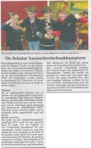 De Schalm schoolschaakkampioen Vught 2016