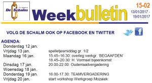 weekbulletin 02 - 2016