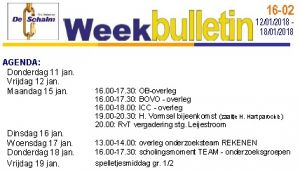weekbulletin 02 - 2018