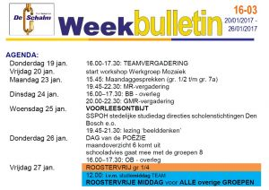 weekbulletin 16 - 03