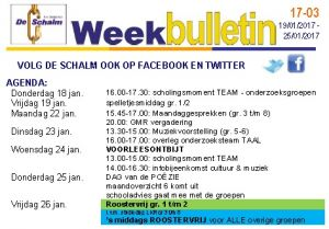 weekbulletin 03 - 2018