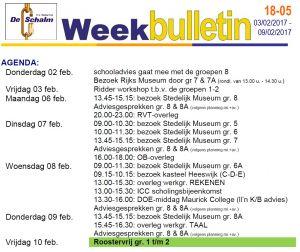 Weekbulletin 05-2017