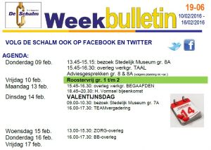 weekbulletin 06 - 2017