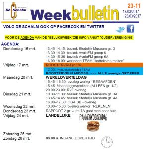 weekbulletin 11 - 2017
