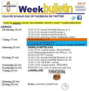 weekbulletin 11 - 2017