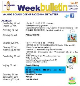 weekbulletin 12 - 2018