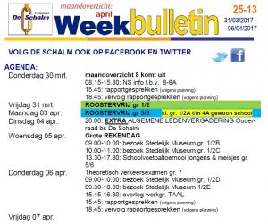 weekbulletin 13 - 2017