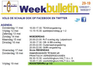 weekbulletin 19 - 2017