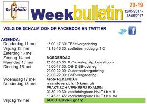 weekbulletin 19 - 2017
