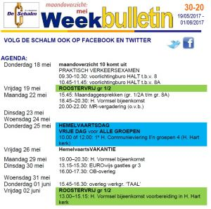 weekbulletin 20 - 2017