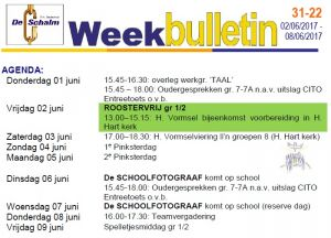 weekbulletin 22 - 2017