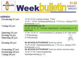 weekbulletin 22 - 2017