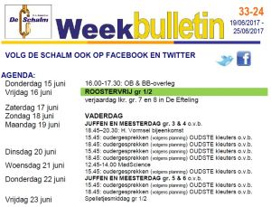 weekbulletin 24 - 2017