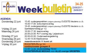 weekbulletin 25 - 2017