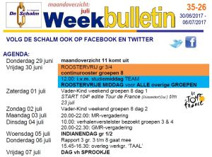 weekbulletin 26 - 2017