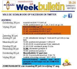 weekbulletin 26 - 2018