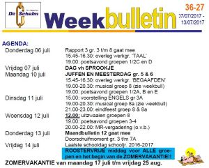 weekbulletin 27 - 2017