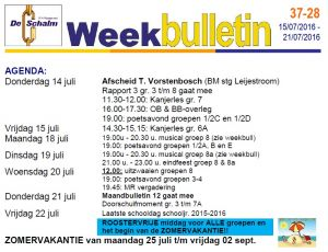 weekbulletin 28 - 2016