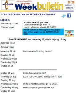 weekbulletin 28 - 2017