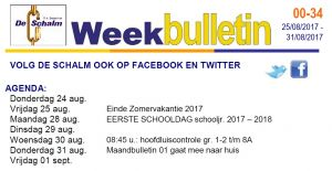 weekbulletin 34 - 2017