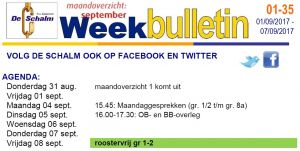 weekbulletin 35 - 2016