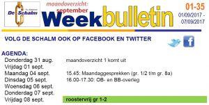 weekbulletin 35 - 2016