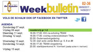 weekbulletin 36 - 2017