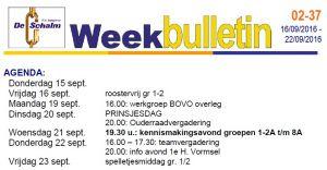 weekbulletin 37 - 2016