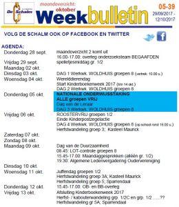 weekbulletin 39 - 2017