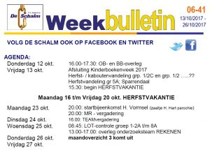 weekbulletin 41 - 2017