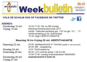weekbulletin 41 - 2017
