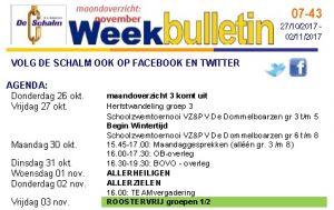 weekbulletin 43 - 2017
