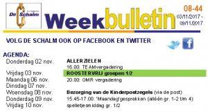 weekbulletin 44 - 2017