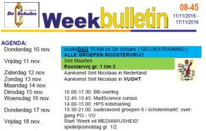 Weekbulletin 45 -2016