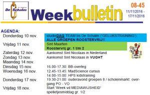 Weekbulletin 45 -2016