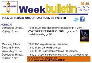 weekbulletin 45 - 2017