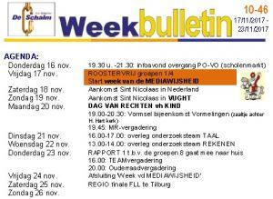 weekbulletin 46 - 2017