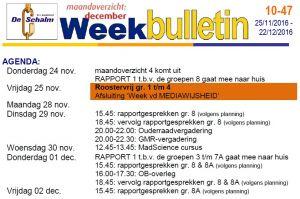 weekbulletin 47 - 2016