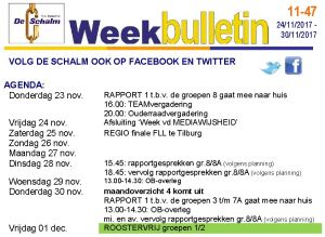 weekbulletin 47 - 2017