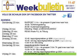 weekbulletin 47 - 2017