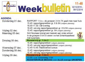 weekbulletin 48 - 2016