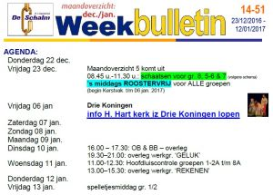 weekbulletin 51 - 2016
