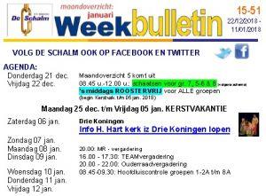 weekbulletin 51 - 2017